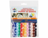 WAGGING TAILZ PUPPY ID BANDS MEDIUM HEART 12PK