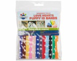 WAGGING TAILZ PUPPY ID BANDS LARGE HEART 12PK