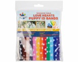 WAGGING TAILZ PUPPY ID BANDS EXTRA-LARGE HEART 12PK