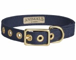 ANIMALS IN CHARGE NAVY + BRASS ALL WEATHER COLLAR: MEDIUM