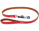 K9 PLAIN LEATHER LEAD 1.9CMX100CM RED
