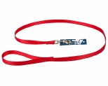 K9 LEAD NYLON WEBBED 15X120CM RED