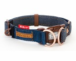 EZYDOG COLLAR DOUBLE UP M DENIM