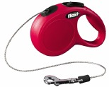 FLEXI CLASSIC CORD RETRACTABLE DOG LEAD EXTRA SMALL 3M RED