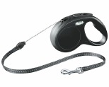 FLEXI CLASSIC CORD RETRACTABLE DOG LEAD SMALL 5M BLACK