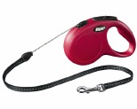 FLEXI CLASSIC CORD RETRACTABLE DOG LEAD MEDIUM 5M RED