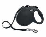 FLEXI CLASSIC TAPE RETRACTABLE DOG LEAD LARGE 5M BLACK
