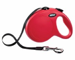 FLEXI CLASSIC TAPE RETRACTABLE DOG LEAD LARGE 5M RED
