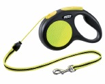 FLEXI NEW NEON CORD RETRACTABLE DOG LEAD MEDIUM 5M