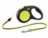 FLEXI NEW NEON CORD RETRACTABLE DOG LEAD SMALL 5M
