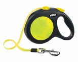 FLEXI NEW NEON CORD RETRACTABLE DOG LEAD LARGE 5M