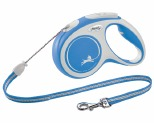 FLEXI NEW COMFORT CORD RETRACTABLE DOG LEAD MEDIUM 5M BLUE