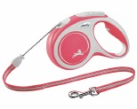 FLEXI NEW COMFORT CORD RETRACTABLE DOG LEAD MEDIUM 5M RED