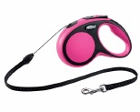 FLEXI NEW COMFORT CORD RETRACTABLE DOG LEAD SMALL 5M PINK