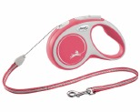 FLEXI NEW COMFORT CORD RETRACTABLE DOG LEAD SMALL 5M RED