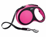 FLEXI NEW COMFORT TAPE RETRACTABLE DOG LEAD LARGE 5M PINK