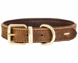 EZYDOG OXFORD COLLAR BROWN MEDIUM