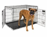 PETMATE TWO DOOR TRAINING CRATE BLACK 106.7CM X 71.1CM X 76.2CM - BLACK~