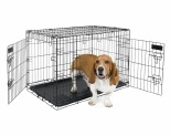 PETMATE TWO DOOR TRAINING CRATE 76CM - BLACK