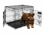 PETMATE TWO DOOR TRAINING CRATE 62CM - BLACK