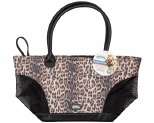 PAWISE PET TOTE BAG LEOPARD PRINT