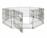 PETMATE EXERCISE PEN WIRE SMALL - BLACK*+
