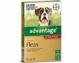 ADVANTAGE FOR LARGE DOGS 10-25KG 4 PACK (RED)