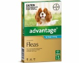 ADVANTAGE FOR MEDIUM DOGS 4-10KG 4 PACK (AQUA)