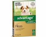 ADVANTAGE FOR SMALL DOGS UNDER 4KG 4 PACK (GREEN)
