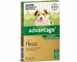 ADVANTAGE FOR SMALL DOGS UNDER 4KG 6 PACK (GREEN)