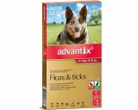 ADVANTIX FOR LARGE DOGS 10-25KG 6 PACK (RED)