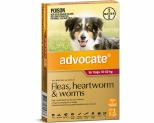 ADVOCATE FOR LARGE DOGS 10-25KG 3 PACK (RED)
