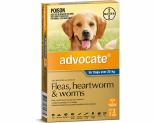 ADVOCATE FOR EXTRA LARGE DOGS OVER 25KG 3 PACK (BLUE)