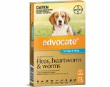 ADVOCATE FOR MEDIUM DOGS 4-10KG 3 PACK (AQUA)