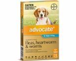 ADVOCATE FOR MEDIUM DOGS 4-10KG 6 PACK (AQUA)