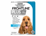 FRONTLINE PLUS DOG MEDIUM 10-20KG 6 PACK (BLUE)