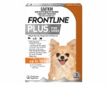 FRONTLINE PLUS DOG SMALL UP TO 10KG 3 PACK (ORANGE)