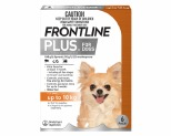 FRONTLINE PLUS DOG SMALL UP TO 10KG 6 PACK (ORANGE)