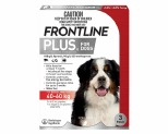 FRONTLINE PLUS DOG XLARGE 40-60KG 3 PACK (RED)