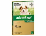 ADVANTAGE FOR SMALL DOGS UNDER 4KG 1 PACK (GREEN)