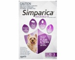 SIMPARICA PURPLE 2.6-5KG 10MG 3-PACK
