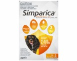 SIMPARICA ORANGE 5.1-10KG 20MG 3-PACK
