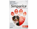 SIMPARICA 40.1-60KG 120MG 3 PACK (RED)