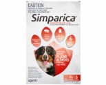 SIMPARICA 40.1-60KG 120MG 6 PACK (RED)