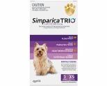 SIMPARICA TRIO 2.6-5KG PURPLE 3 PACK