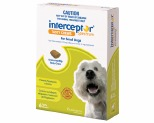 INTERCEPTOR SPECTRUM FOR SMALL DOGS 4-11KG 6 PACK (GREEN)