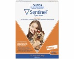 SENTINEL SPECTRUM XSMALL UP TO 4KG 3 PACK (BROWN)