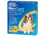 NEXGARD SPECTRA 3.6-7.5KG 3 PACK (YELLOW)