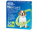 NEXGARD SPECTRA 7.6-15KG 3 PACK (GREEN)
