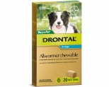 DRONTAL ALLWORMER CHEWABLE FOR MEDIUM DOGS UP TO 10KG 20 PACK